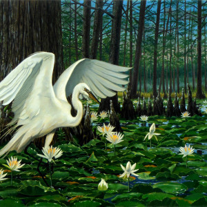 Great Egret by Kevin D. Miles Schaefer/Miles Fine Art