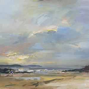 Autumn Evening Trevone Bay by David Atkins