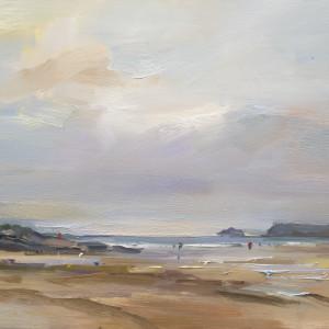 Late Evening Polzeath. Cornwall by David Atkins
