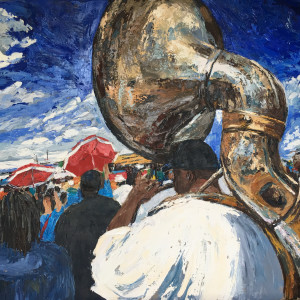 Sousaphone at JazzFest