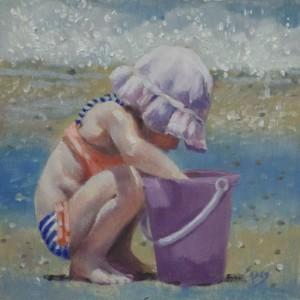 Beach Treasures In My Bucket by Linda Eades Blackburn