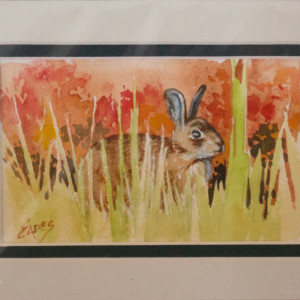 Bunny in Grass by Linda Eades Blackburn