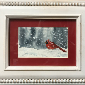 Cardinal Delight by Linda Eades Blackburn