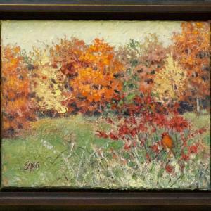 Cardinal in the Bush by Linda Eades Blackburn