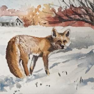 Fox in the Snow by Linda Eades Blackburn