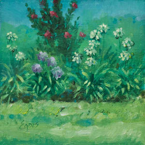Garden Scene En Plein Air by Linda Eades Blackburn