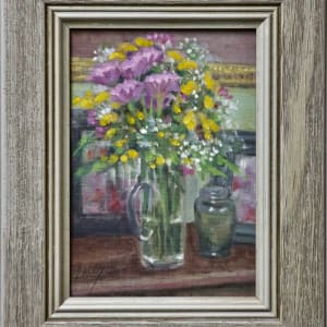 Hall Table Floral by Linda Eades Blackburn