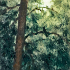 Moonlight Thru the Pines 2 by Linda Eades Blackburn
