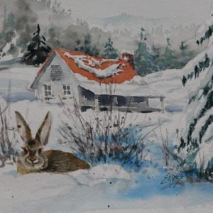 Snow Bunny by Linda Eades Blackburn