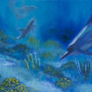 Spinner Dolphins by Linda Eades Blackburn