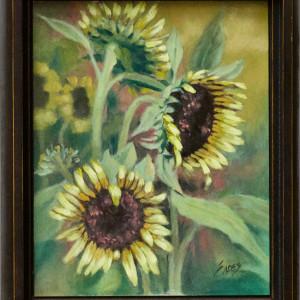 Sun Flower Field by Linda Eades Blackburn