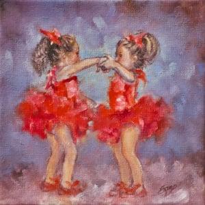 Two Red Tutus by Linda Eades Blackburn