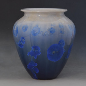 Blue with White Pot