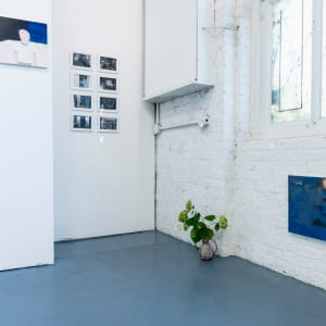 Installation views of A mirror, a dish, a window
