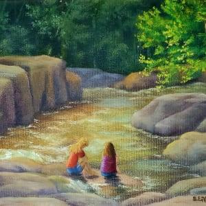 Sitting at Otter Rocks by Sharon Allen