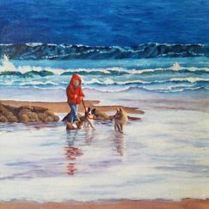 A Walk on the Beach by Sharon Allen