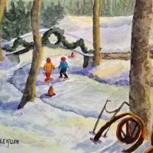 Skating at Nestlenook by Sharon Allen