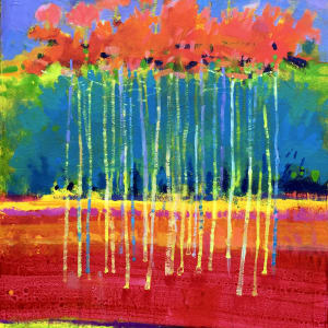 Blue Trees, Pink Birches