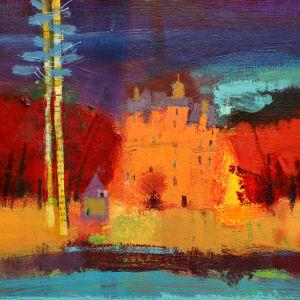 Autumn castle by francis boag