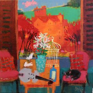 Domino dreams or 3 Doves by francis boag