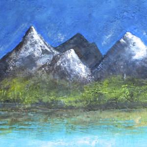 Where the mountains touch the skies 72x24 aq6joe