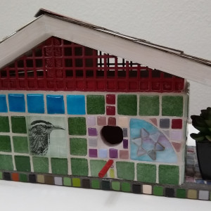 Bird Landia (bird house) by Andrea L Edmundson
