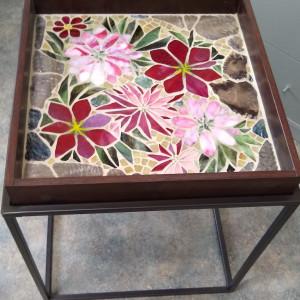 Fuschia Flora (table) by Andrea L Edmundson