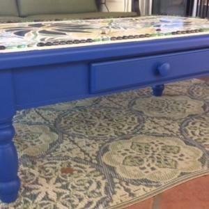 Blue Flower (table) by Andrea L Edmundson