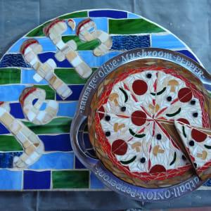 Jeff's Pizza (outdoor sign) by Andrea L Edmundson