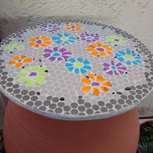 Rain Flowers (pair, barrel covers) by Andrea L Edmundson