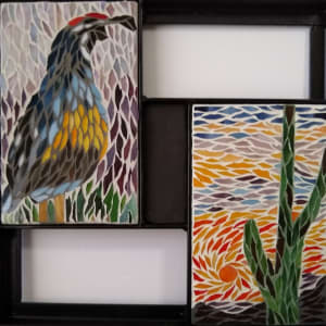 Sonoran Spring (pair in frame) by Andrea L Edmundson