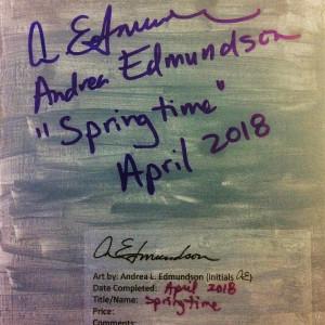 Springtime by Andrea L Edmundson