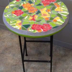 Vibrancy (side table) by Andrea L Edmundson