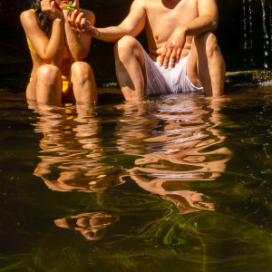 Christine &Calvin at Swimming Hole by Alan Powell