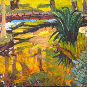 Plein Aire - Roxbury Stream by Alan Powell