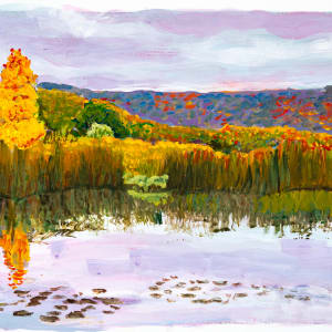 Snake Pond, Andes NY by Alan Powell