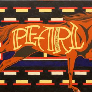 Liz chappie zoller iron horse native runner ii 14 x 40 acrylic kmxiay