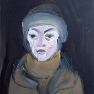 Winter End Selfportrait by Gallina Todorova