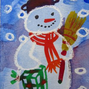 Snowman - Christmas 2019/ illustration by Gallina Todorova