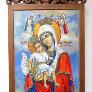 Holy Mother Dostojno Est by Gallina Todorova
