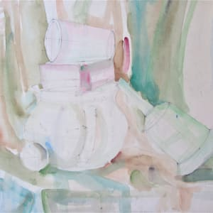 Unfinished still life by Gallina Todorova