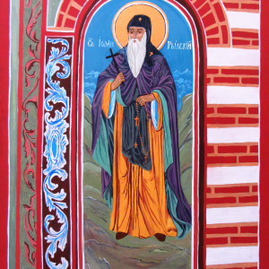 St John of Rilla -after a mural at the Rilla Monastery