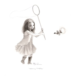 Catching Fireflies (Preliminary Drawing)