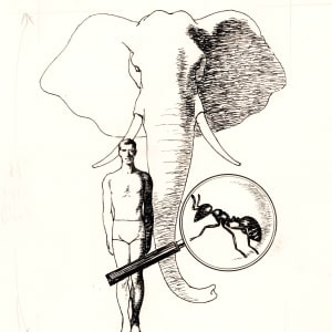 Men, Ants, and Elephants - Cover
