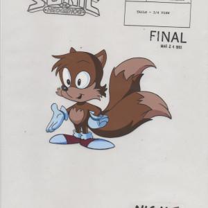Sonic SatAM - Model Cel - Tails (Dark)