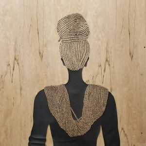 There She Stands, Regal with her Braids and Beads by Tracy Murrell