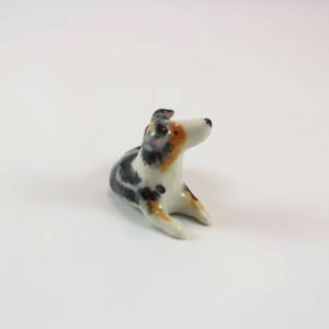 Flera: Miniature Porcelain Australian Shepherd Dog Figurine