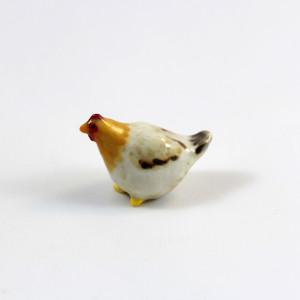 Sunflower: Miniature Porcelain Hen Figurine