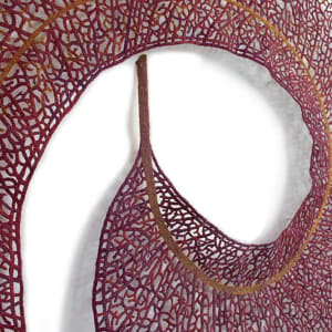 Mauve Eucalyptus Leaf by Meredith Woolnough