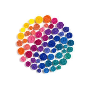 #100 Rainbow Dots by Meredith Woolnough